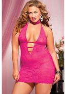 Midnight Affair 3pc Chemise -pink- Qs