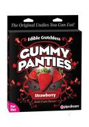 Edible Crotchless Gummy Panties Strawberry